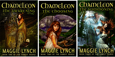 cover images for the Forest People Series by Maggie Lynch
