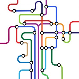 Colorful abstract subway map