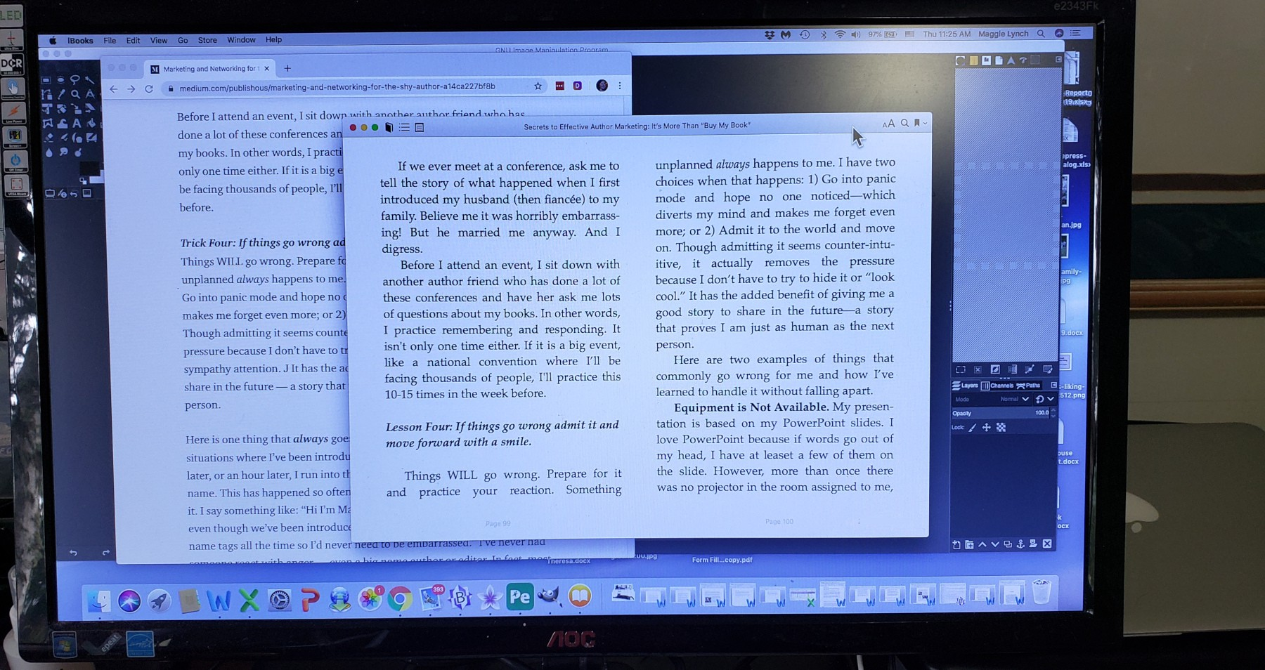 picture of a blog post and how it transformed into an ebook