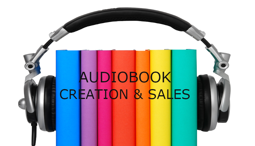 picture of books surrounded by a headphone