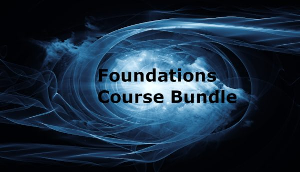 space vortex with words Foundations Course Bundle in the center